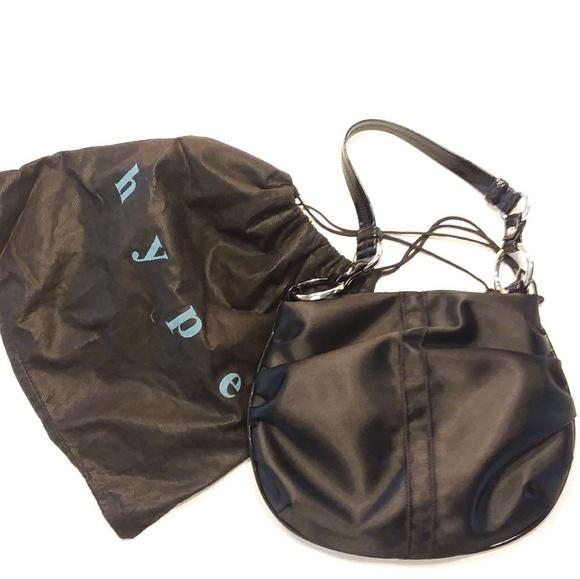 00e4ac6fc0ba NEW Hype black satin bag